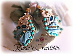 orecchini seta e pietre https://www.facebook.com/pages/Roxies-Creations/1425843984294757