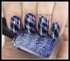 http://www.bettysbeautybombs.com/2014/12/05/black-purple-nail-art/ / Sweet Heart Polish Royalty