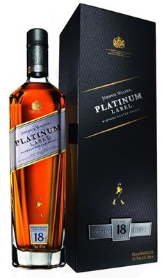 Introduced to the US in August of Johnnie Walker Platinum, an blended Scotch whisky, is crafted from single malt and grain whiskies. Whiskey Or Whisky, Whiskey Drinks, Scotch Whiskey, Whiskey Bottle, Booze Drink, Alcoholic Drinks, Cocktails, Bourbon, Johnnie Walker Whisky