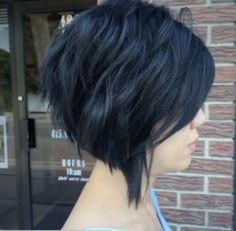 Inverted choppy bob by Jill Clapham