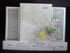 Birthday   docrafts.com Napkin Cards, Waterfall Cards, Stepper Cards, Sue Wilson Dies, Tattered Lace Cards, Shaped Cards, Anniversary Cards, I Card, Card Ideas