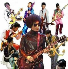Prince, kaleidoscope of styles and guitars.