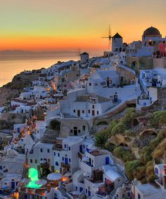 A beautiful summer sunset, Oia, Santorini, Greece