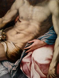 Detail of Lamentation of Christ by Girolamo Siciolante da Sermoneta, National Museum in Poznań. From the collection of Atanazy Raczyński. Renaissance Paintings, Tempera, National Museum, Male Body, Christ, Oil, Detail, Collection, Butter