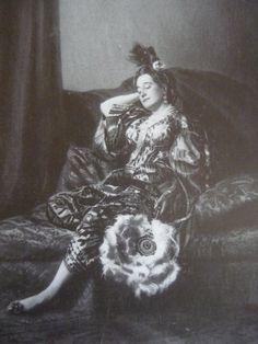 La Emperatriz Eugenia disfrazada de odalisca.