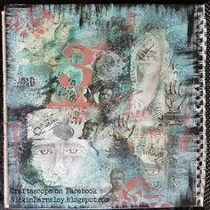 Barnsley Crafter: Faces Mixed Media Journal, Stamp Collecting, Journal Pages, Medium Art, Stencils, Vintage World Maps, Barnsley, Cards, Profile