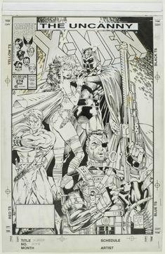 Uncanny X-men 274 Cover, in David Mandel's Lee, Jim Comic Art Gallery Room - 918063...