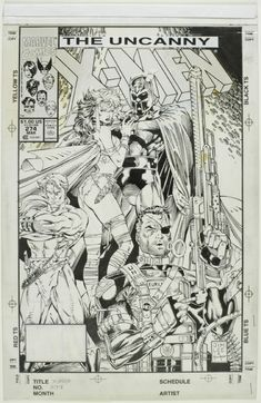 Uncanny X-men 274 Cover, in David Mandel's Lee, Jim Comic Art Gallery Room - 918063