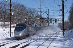 "Amtrak's ""Acela Express"" at Metuchen, New Jersey..."