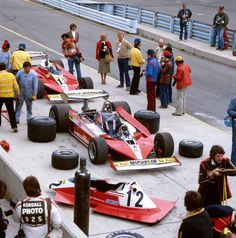 Ruote Rugginose: Ferrari Pits before US GP at Watkins Glen in 1978