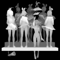 Kazuki Takamatsu original paintings that appear digital