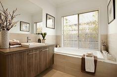 The bathroom of the Selwyn, on display at Aspire Estate, Plumpton - Carlisle Homes Aspire Estate, Plumpton, Construction Services, Plumpton, VIC, 3335 - TrueLocal