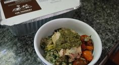 Salmon with tapenade and rice. No cooking just reheat and enjoy. 20% off for 1st time orders. #summer #dinner is saved!