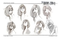 Wednesday Adams expression sheet by Lissy Marin — drawing character development