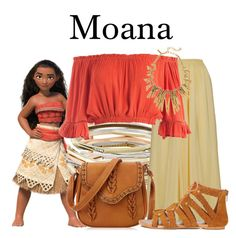 A fashion look from October 2016 by megan-vanwinkle featuring Sans Souci, Miss Selfridge, Kendra Scott, disney and moana Disney Character Outfits, Disney Themed Outfits, Disneyland Outfits, Character Inspired Outfits, Disney Bound Outfits, Disney Dresses, Princess Inspired Outfits, Disney Inspired Fashion, Disney Fashion
