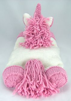 Suki the Unicorn Pyjama Case Knitting Pattern. by KnittingByPost