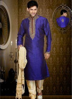Smashing Royal Blue Art Silk Kurta  http://www.fillyz.com/mens/buy-kurta-pajama/smashing-royal-blue-art-silk-kurta-11444.html