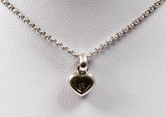 Chopard Happy Diamonds Collier Kette Weissgold Brillant iPfand