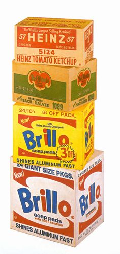 Andy Warhol, Brillo, Del Monte and Heinz Boxes, 1964