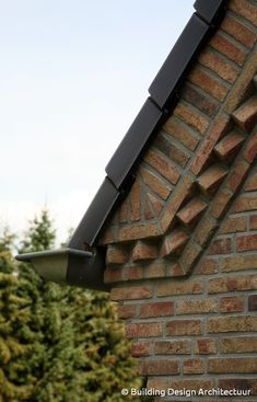 Materiaal © Building Design Architectuur Brick Building, Building Design, Building A House, Brick Architecture, Architecture Details, Brick Detail, Brick Art, Brick Construction, Masonry Wall