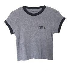 Cute AF Crop Tee (92 BRL) ❤ liked on Polyvore featuring tops, t-shirts, shirts, crop tops, t shirts, crop t shirt, shirt crop top, shirts & tops and crop top
