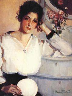Donna N. Schuster 1883 - 1953 - Self Portrait
