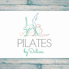 Pilates Logo logotipo personalizado logotipo de Yoga