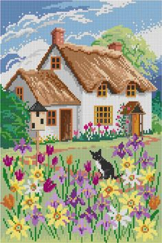 Spring Cottage by Lesley Teare, chart only