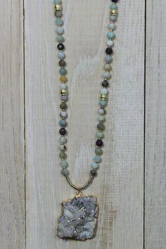 Milky Druzy Ammonite Necklace http://www.sixtwentyninedesigns.com/shop/jfx5g10ar9uwiu35ssga0fxunu2tej