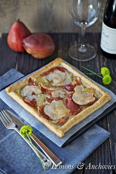 Pear, Prosciutto and Truffled Brie Tart @Jean | Lemons and Anchovies