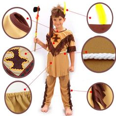 Children Native American Indian Costume US $27.86 & FREE Shipping