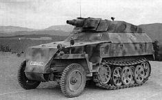 A SdKfz 250/8 with the 75mm  KwK 37 L/24 infantry support variant