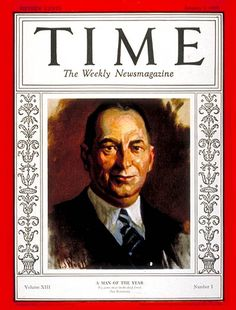 On January 7, 1929, TIME Magazine named Walter P. Chrysler its Man of the Year