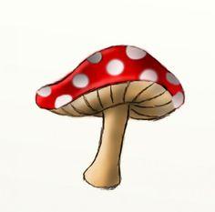 How to draw a mushroom Mushroom Paint, Mushroom Drawing, Mushroom House, Hongo Tattoo, Indie Kunst, Alice In Wonderland Mushroom, Mushroom Tattoos, Hippie Art, Pics Art