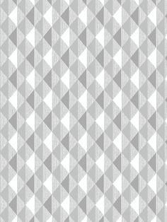 Papier peint petits triangles Harlequin gris - Rasch