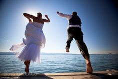 Trash the Dress - Our wedding in bigfork montana