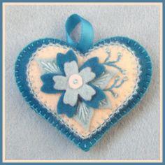 Jolion Happy Heart Blue Flowers by Jolion., via Flickr