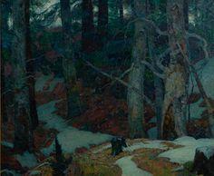 """Sylvan Quiet,"" John F. Carlson, oil on canvas, 49 x 59"", Ashley John Gallery."