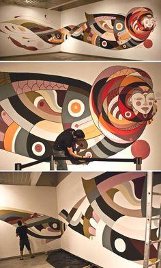 Fernando Chamarelli - Nova Festival Mural painting in progress! #mural #illustration