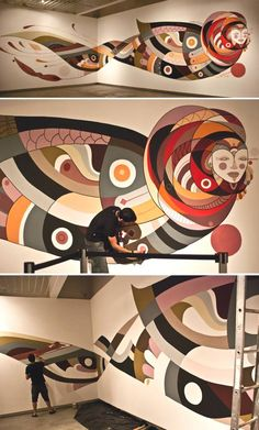 Fernando Chamarelli (artista brasiliano)- Mural Sao Paulo