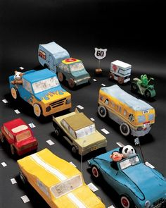 1000 images about cars in paper mache on pinterest for How to make a cardboard box car that moves