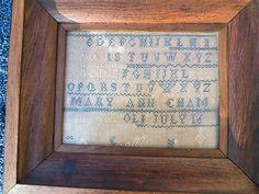 $50.00 Look what I found on @eBay! http://r.ebay.com/zXDw0e Antique 1800's Framed Victorian Linen Alphabet Sampler