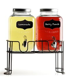 Look what I found on #zulily! Mini Yorkshire Chalkboard 1-Gal. Beverage Dispenser Set #zulilyfinds