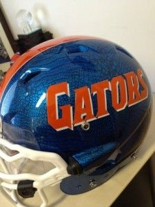 Florida Gators... possible new helmets?  The blue is gator skin, pretty sick!