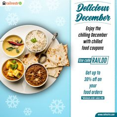 RailRestro 2020 Offers and Coupons codes for Food in Train Food Coupons, Order Food, Food Design, December, Coding, Range, Social Media, Train, App
