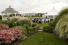 You can't pick a better spot to have your ceremony with gardens surrounding you and ocean views are far as you can see.