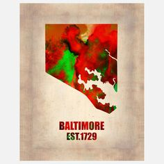My design inspiration: Baltimore Map Canvas on Fab.