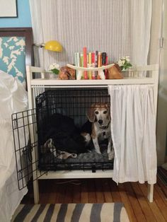 dog crate cover/ coffee table coolest | for the home | pinterest