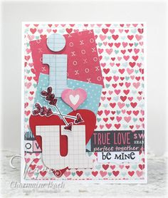 Card by Charmaine Ikach using Heart's Desire and the I Heart U Die Set from Verve.  #vervestamps