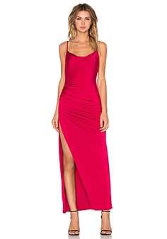 NBD x REVOLVE Take It All Maxi Dress in Berry Red | REVOLVE